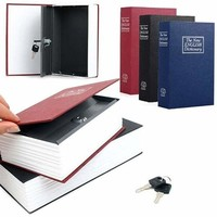 2016 Creative Booksafe Lock Key Book Safe Diversion Secret Hidden Security Stash Box