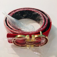Salvatore Ferragamo Red Designer Belt