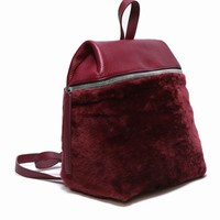 KARA SHEARLING BACKPACK - WOMEN - BAGS - KARA - OPENING CEREMONY