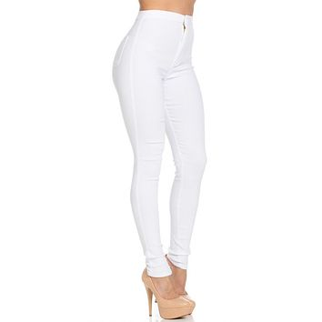 Bombshell High Waist Denim White