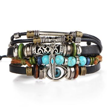 leather and crystal bracelets wanelo.co lace up in d87d7 dfb87 ... 1ff0b496a