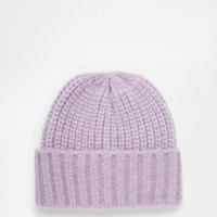 ASOS Fluffy Deep Turn Up Beanie at asos.com