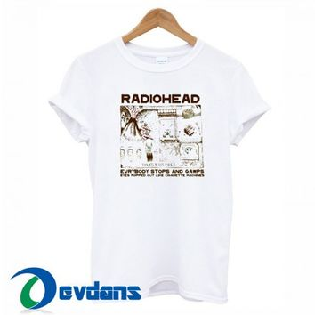 Radiohead Colored In Drawing T Shirt Women And Men Size S To 3XL