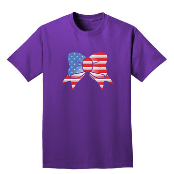 Patriotic Bow Adult Dark T-Shirt