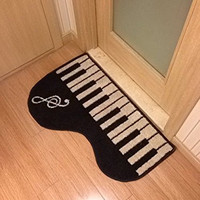 Keyboard area rug piano music note rugs carpet piano mat Music RoomBedroom/Living Room/Bathroom/Kitchen Home Decoration Carpet