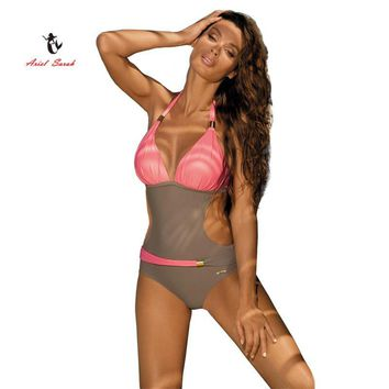 Two Tone Monokini swimsuit bathingsuit