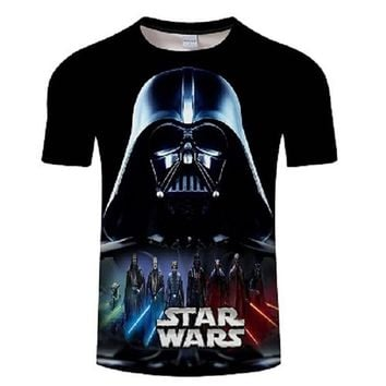 2018 Newest 3D Printed star wars t shirt Men Women Summer Short Sleeve Funny Top Tees Fashion Casual clothing Asia Size T-shirt