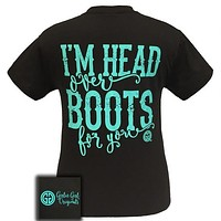 Girlie Girl Originals Country I'm Head Over Boots For You T-Shirt