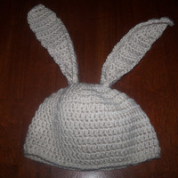 Crocheted Bunny Ears Hat for Baby or Child
