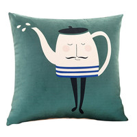 Letter Printed Square Pillow