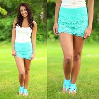 Vintage Vixen Shorts in Mint