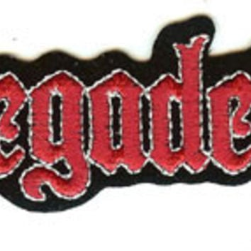 Megadeth Iron-On Patch Red Letters Logo