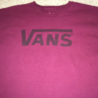 Sale!! Vintage VANS casual shirt cotton tee size Medium Free US Shipping