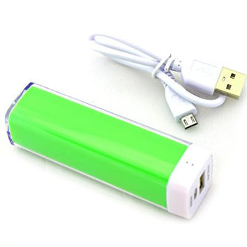 Finizo 2200mAh Lipstick Power Bank External Battery Charger (Green)