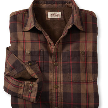 Water-Resistant Fleece-Lined Canvas Shirt, Plaid: Flannel, Chamois and Lined | Free Shipping at L.L.Bean