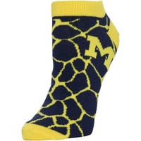 Michigan Wolverines Women's Giraffe Print Ankle Socks – Navy Blue