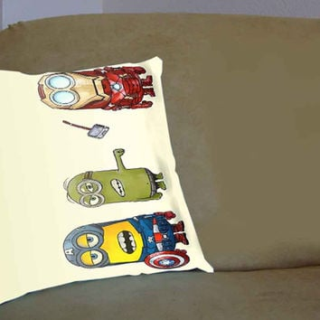 Despicable Me The Avengers Minions - Pillow Case, Pillow Cover, Custom Pillow Case **