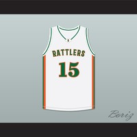 8851aaf7dee DeMarcus Cousins 15 LeFlore High School Rattlers White Basketball Jersey