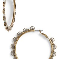Sorrelli Foxglove Crystal Hoop Earrings | Nordstrom