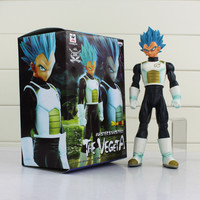 Blue Hair Vegeta Dragon Ball Z Kai Resurrection Master Stars Piece Figure Toy Model 25cm