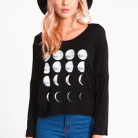 MOON PHASES DOLMAN TEE