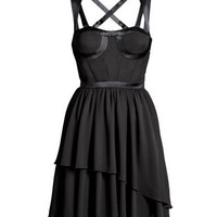 Product Detail   H&M US - Versace. Knee-length dress in crêped silk chiffon with satin details.