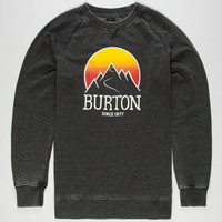 Burton Vista Mens Sweatshirt Black  In Sizes