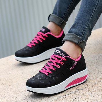 wedges sneakers Breathable running sport shoes