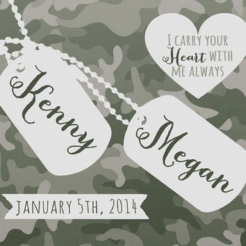 Military Wedding Gift Custom Present For Army Couple