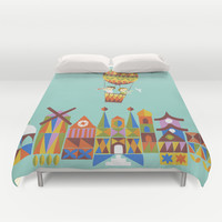 Voyage around the world Duvet Cover by Budi Satria Kwan