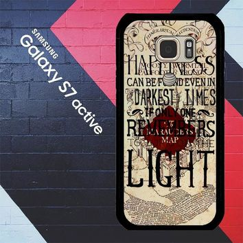 Harry Potter Marauders Map Happines L1431 Samsung Galaxy S7 Active Case
