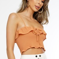 Betty Crop Top - Orange