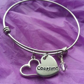 Personalized Charm Bracelet Child - Adult a Custom Charm Bracelet - Gift for Girl friend - Expandable Charm Bracelet - Name Bracelet - Birth