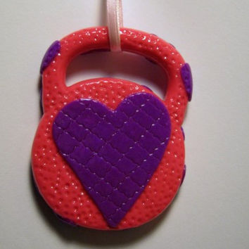 Valentines Kettlebell 2 Sided Decoration