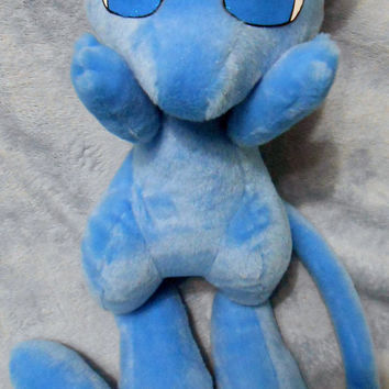 Pokemon inspired Shiny Blue Mew Legendary (40 cm high) plushie made of minky, very cuddly!