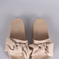 Oversized Bow Slide Sandal