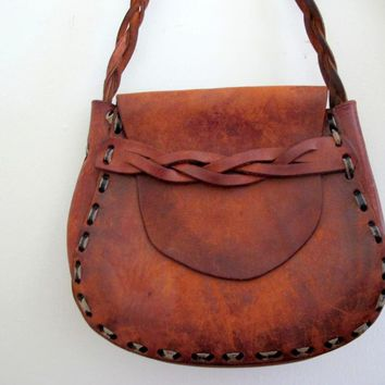 Vintage Brown Leather Mexican Toole.. on Luulla