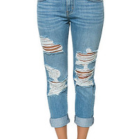 The Bobby Baggy Boyfriend Denim in Rampid