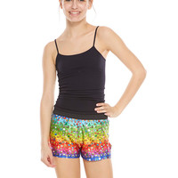 Girls Emoji Rainbow Gym Shorts