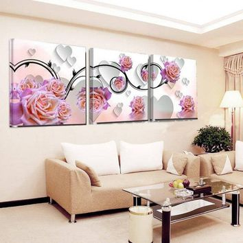 3D Look Flower Blossom Square Canvas Painting Print Painting On Canvas Wall Art