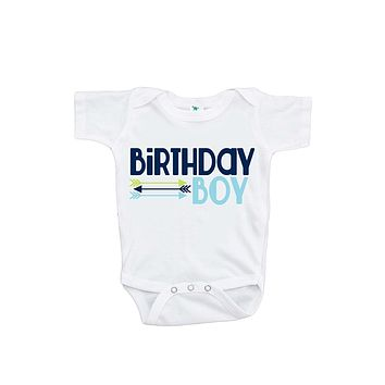 Custom Party Shop Baby Boy's Novelty Hipster Arrows First Birthday Onepiece Outfit