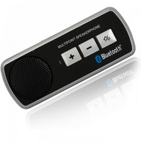 Dual Standby Handsfree Bluetooth Car Kit Speaker Black - Default