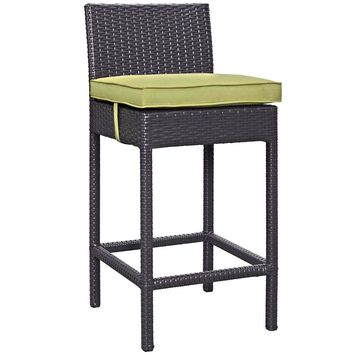 Peridot Convene Outdoor Patio Fabric Bar Stool