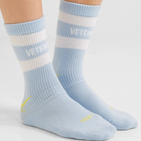 Vetements - + Reebok intarsia stretch cotton-blend socks
