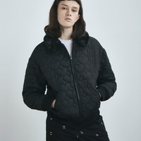 Lazy Oaf Black Heart Bomber Jacket - Everything - Categories - Womens