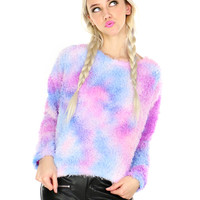 PASTEL GRUNGE FURRY SWEATER