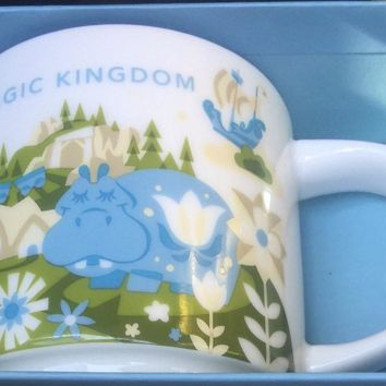 Disney Parks Starbucks You Are Here Magic Kingdom Coffee Mug 2nd Small Wolrd New