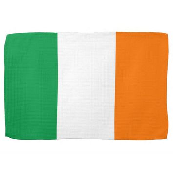 Kitchen towel with Flag of Ireland