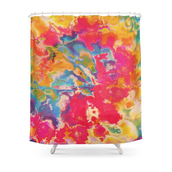 Society6 Tie Dye Shower Curtains