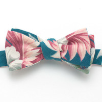 1940s South Seas Palm Bow Tie - Handmade Vintage Ties, Bow Ties, Pocket Squares, Bandanas, and Men's Furnishings - General Knot & Co.